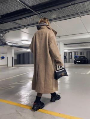 Long lined maxi coat